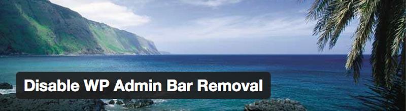 disable-wp-admin-bar-removal