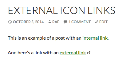 External link with icon.