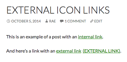 External link with text.