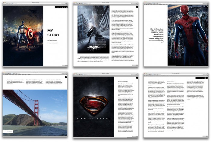 Pages generated by Storyform on a desktop