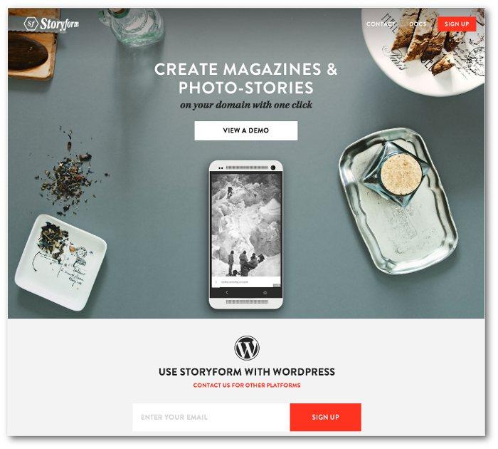 Cover shot of Storyform's website