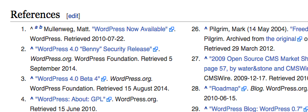 Wikipedia external links