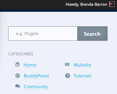 WordPress Howdy Welcome Message