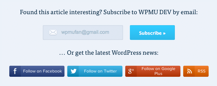 WPMU DEV Follow Buttons