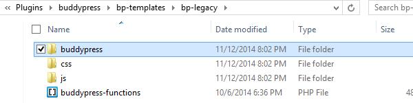 """bp-legacy"" folder in the BuddyPress Plugin"