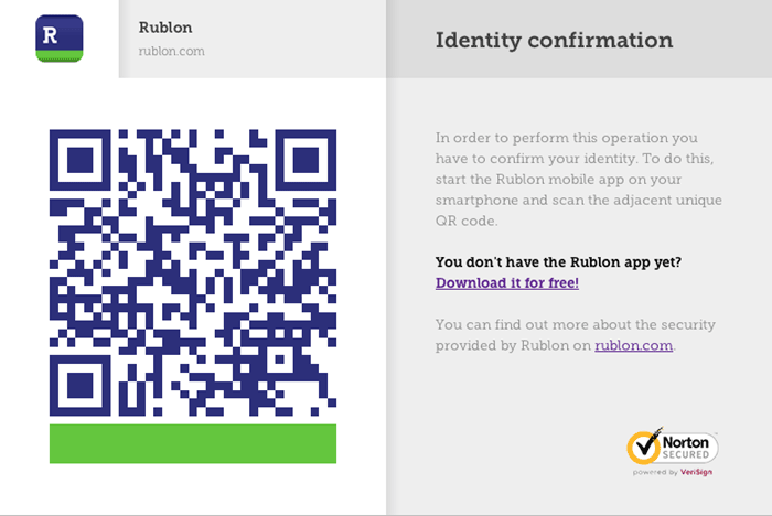 QR Code Two-Step Authentication