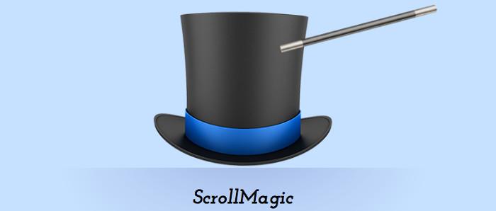 Screenshot of ScrollMagic demo page