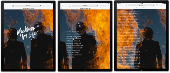 3 screenshots of scenes from an iPad with the same background moved for a different view
