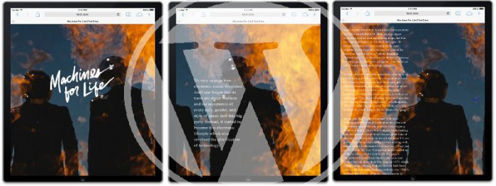 Post feature image showing 3 iPad screens overlayed with a WordPress logo