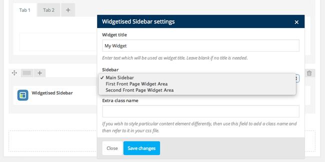Widgetized Sidebar Content Element