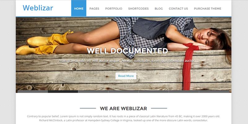 Weblizar Theme