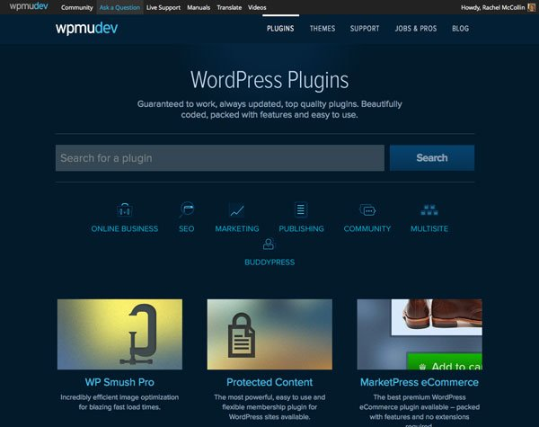 Subscribing to WPMU DEV gives you access to hundreds of premium plugins and themes