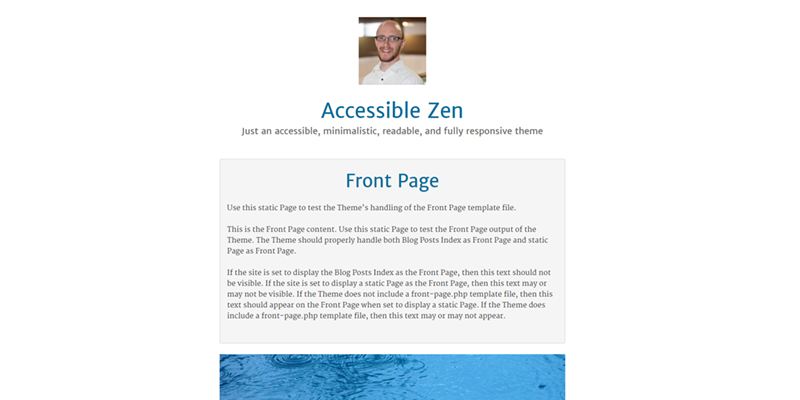 Accessible Zen screenshot