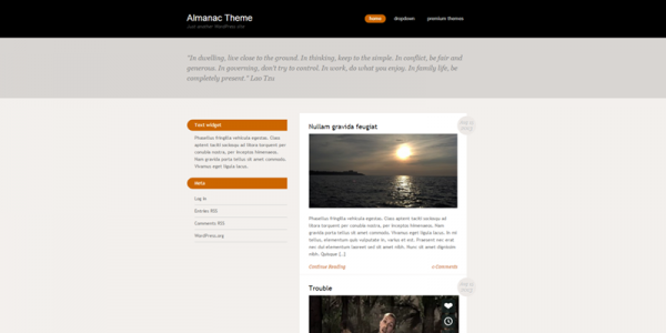 Almanac theme