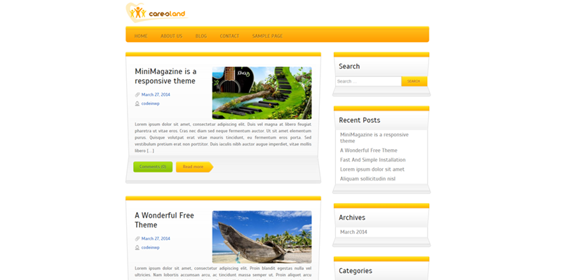 Caresland theme