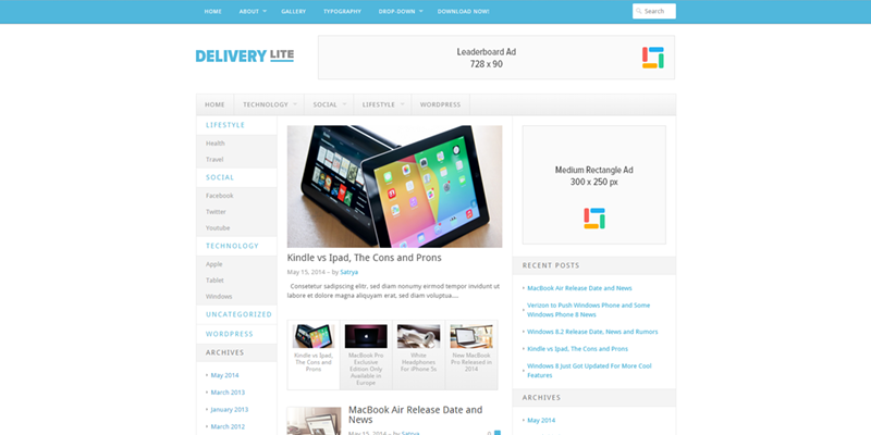 Delivery Lite theme