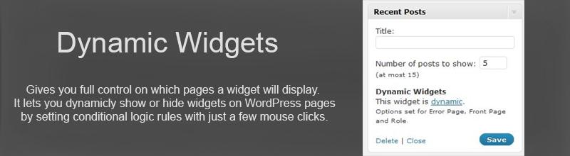 Dynamic Widgets plugin