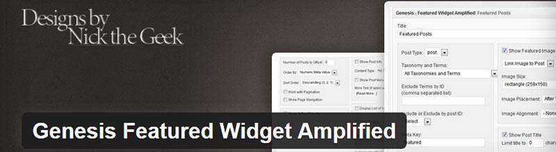 Genesis Featured Widget Amplified