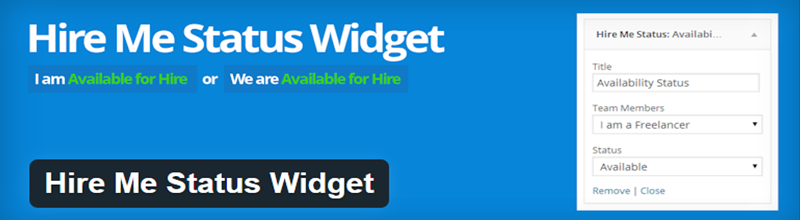 Hire Me Status Widget