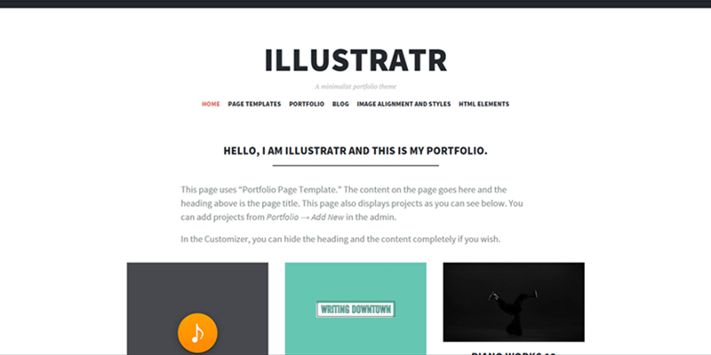 Illustratr theme