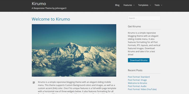 Kirumo theme