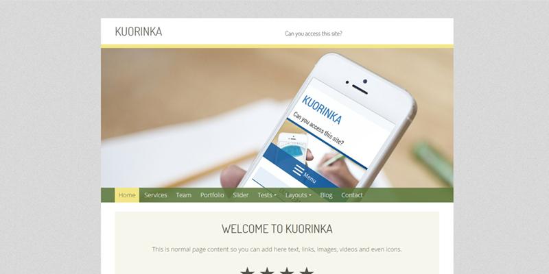 Kuorinka theme screenshot