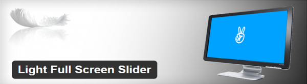 Light Full Screen Slider plugin
