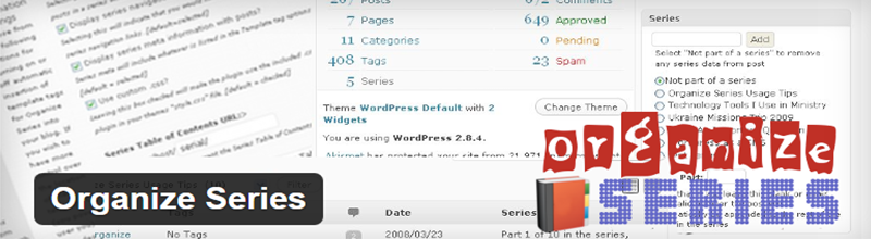 Organize Series plugin