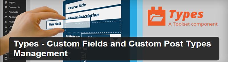 Types - Custom Post Types plugin