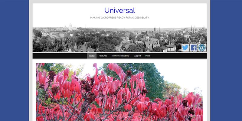 Universal theme screenshot