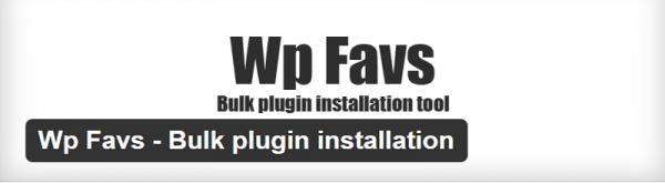 WP Favs plugin