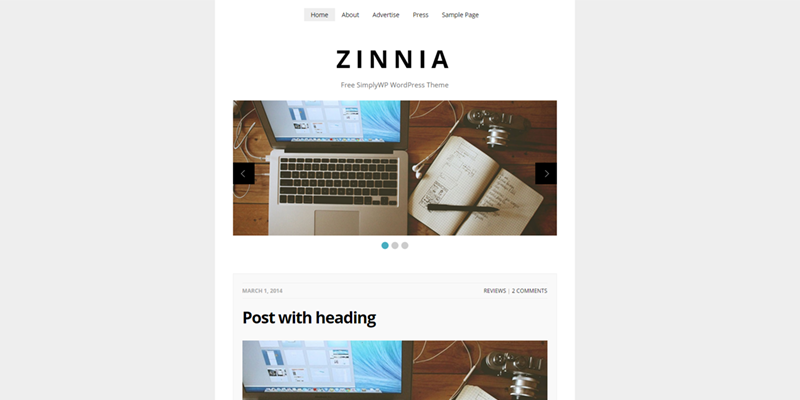 Zinnia theme