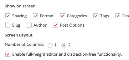 Distraction Free Option