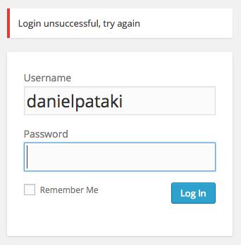 Modified login form
