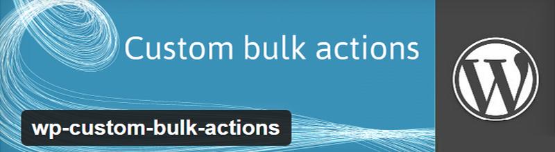 WP Custom Bulk Actions plugin