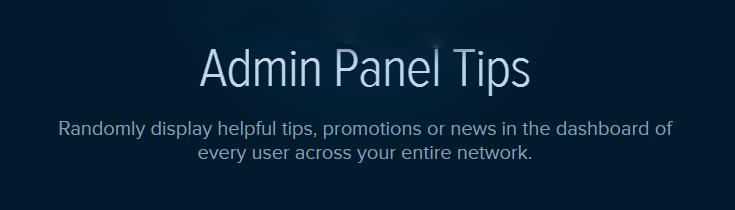 Admin Panel Tips plugin