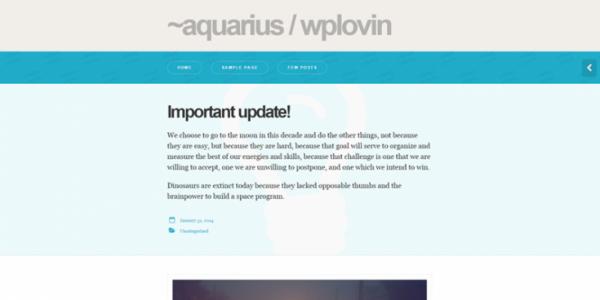 Aquarius theme