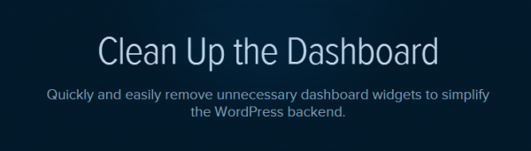 Clean Up the Dashboard plugin