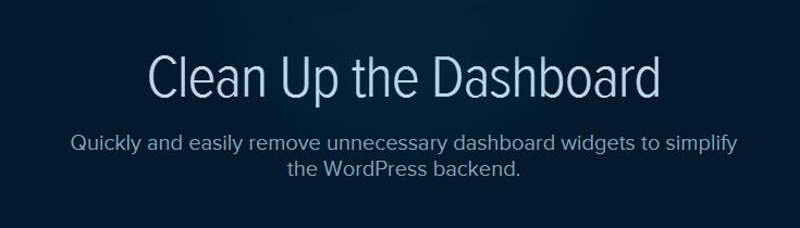 Clean Up the Dashboard plugin