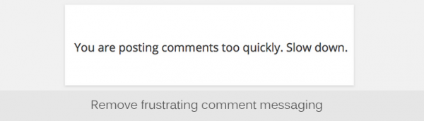 Comments Control plugin