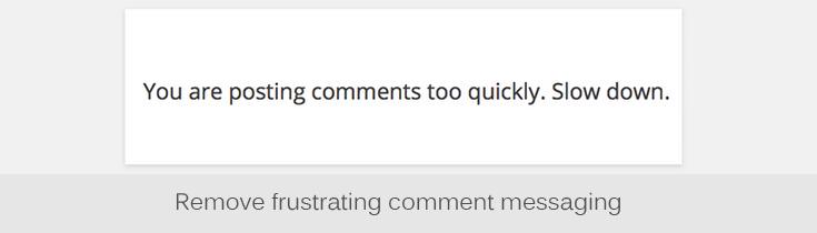Comments Control plugin