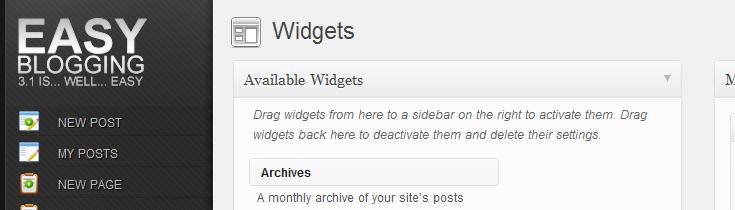 Easy Blogging plugin