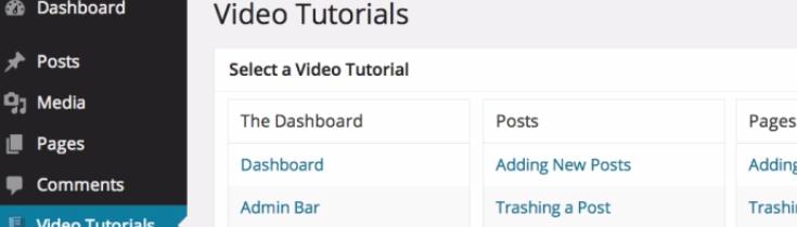 Integrated Video Tutorials plugin