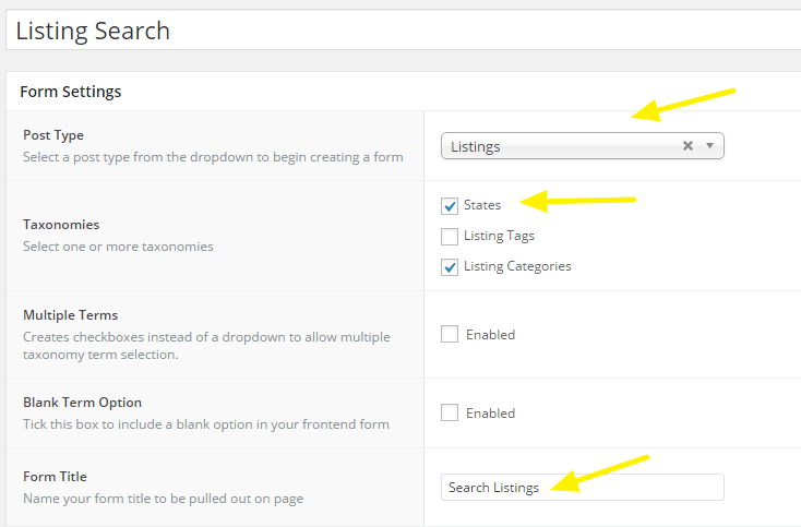 Listing search.