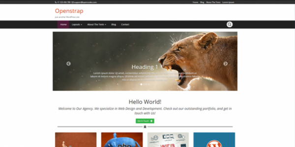 Openstrap theme