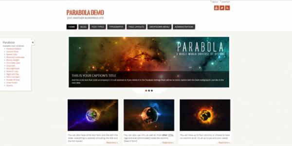 Parabola theme