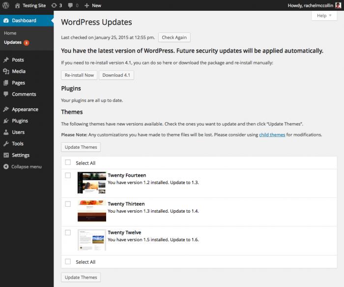 admin-updates-screen