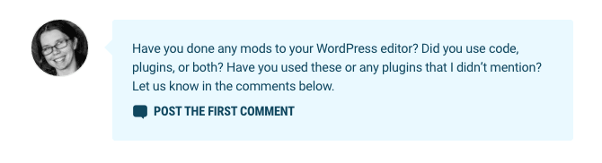 Our new author comments box feature.