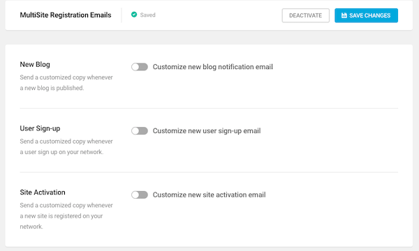 this Multisite feature enables you to give your site users email notifications