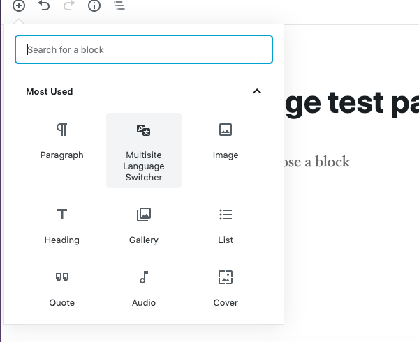 Multisite Language Switcher is also gutenberg compatible
